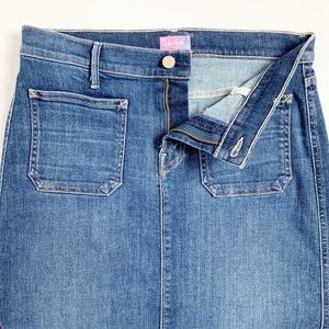 MOTHER Skirts - MOTHER High Waisted Patchie Jean Skirt Girl Crush